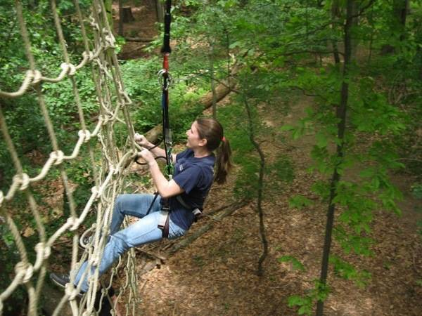 Go Ape Eagle Creek Park High Ropes Course Zip Line Birthday Party